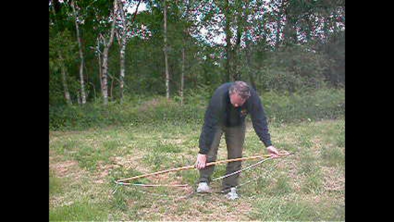 Stringing a Longbow with stringer
