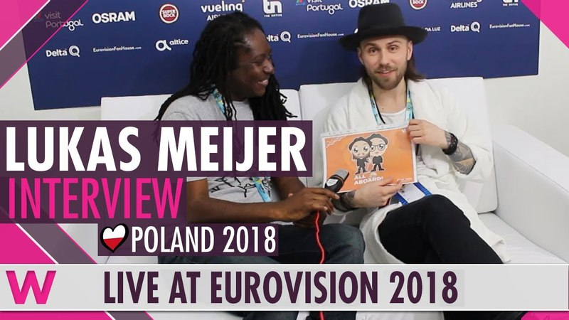 Lukas Meijer Poland interview @ Eurovision 2018 wiwibloggs