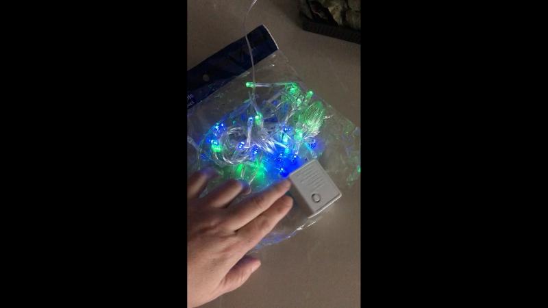 Гирлянда 100 LED 10м, с удлинителем на концевике