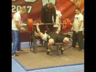 Мурад Алибегов - жим лежа 300 кг