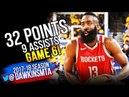 James Harden Full Highlights 2018 WCF Game 6 Warriors vs Houston Rockets - 32-9! | FreeDawkins