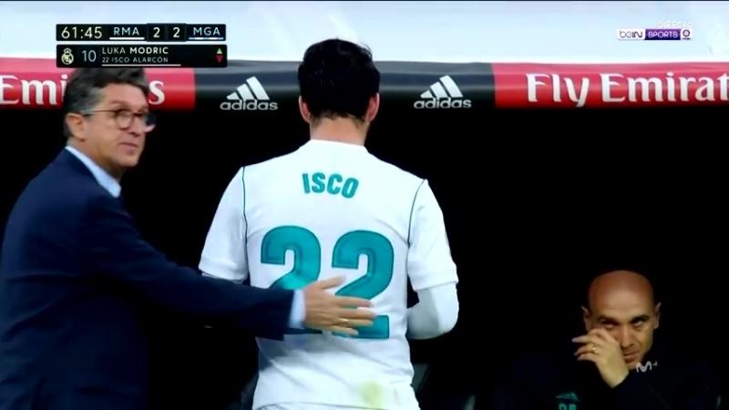 Isco vs Malaga (La Liga, 15/04/2018).
