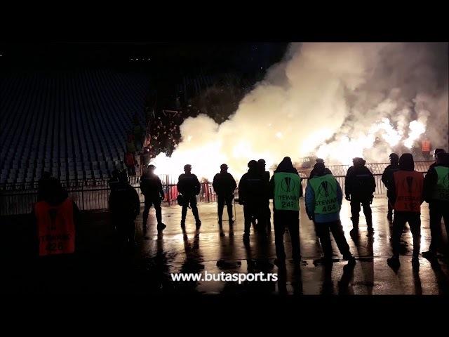 Navijači CSKA na utakmici protiv Crvene zvezde (13.02.2018)