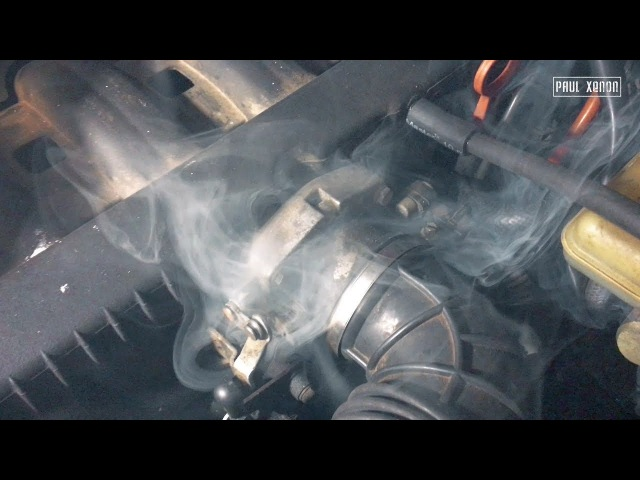 Плохая тяга двигателя и большой расход Ищем подсосы простым дымогенератором