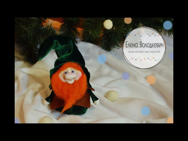 Кукла новогодний гномик в чулочной технике / Christmas Gnome DIY Tutorial