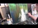 поросшая заводь научиться рисовать маслом, уроки живописи в Москве Сахарова