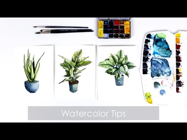 Акварельный мастер-класс / Watercolor Painting Tutorial