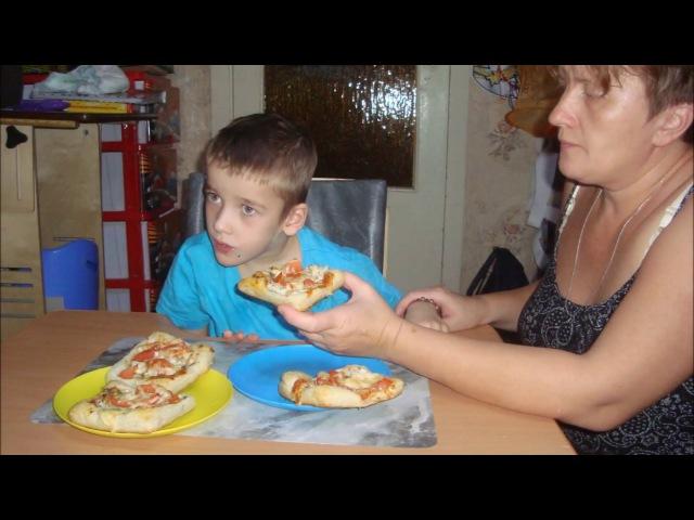 VLOG готовим вместе с мамой пицца от Ярика Pizza Yarik