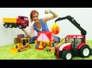 Машинки строят дом Играем в стройку с Машей Капуки