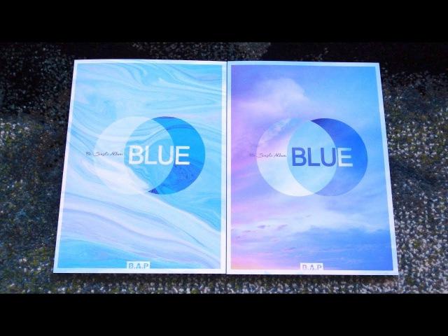 Unboxing B.A.P 비에이피 7th Korean Single Album BLUE (Both A B Edition)