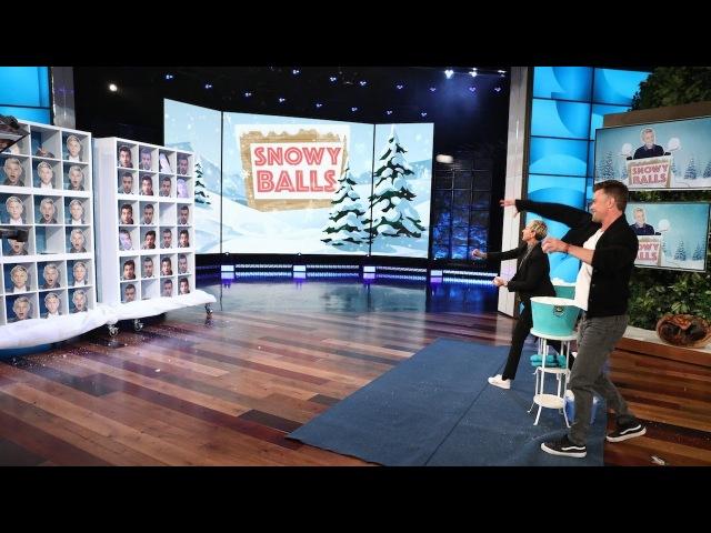 Josh Duhamel and Snowy Balls