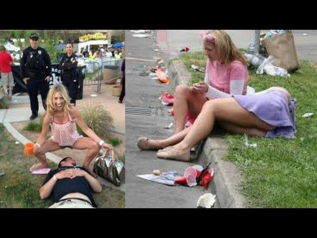 ПРИКОЛЫ С ПЬЯНЫМИ ДЕВУШКАМИ приколы пьяные приколы с девушками смешное видео до слез