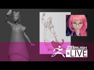 [RU] Alina Ivanchenko - Создание стилизованного персонажа в ZBrush с нуля - Episode 1