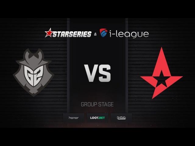 G2 vs Astralis, map 2 overpass, StarSeries i-League Season 4 Finals
