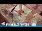 Mixing Face Powder: Retro Cosmetics (1958) | British Pathé