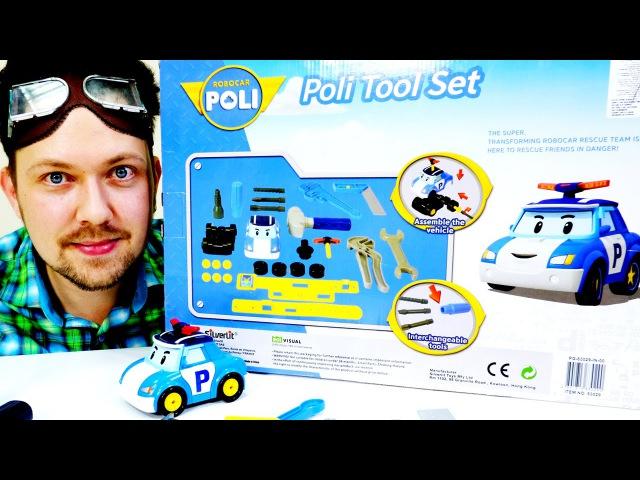 Мультики про машинки: Гараж Алекса. Робокар Поли. Распаковка. Игры для мальчиков.