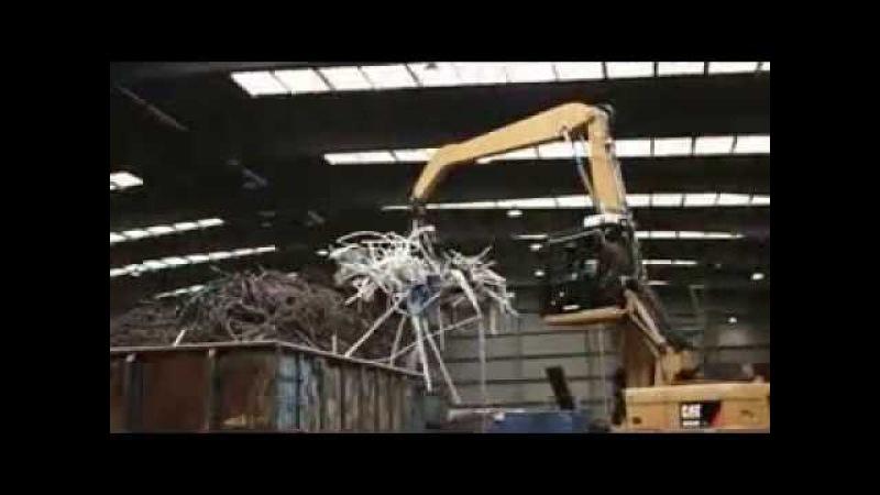 BEIYI hydraulic orange peel grab for scrap