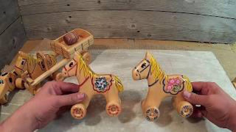 Деревянные игрушки для Топтыжки