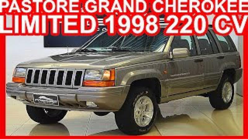 4K PASTORE Jeep Grand Cherokee Limited 1998 Prata aro 16 AT4 4x4 5.2 V8 220 cv 41,5 kgfm JEEP