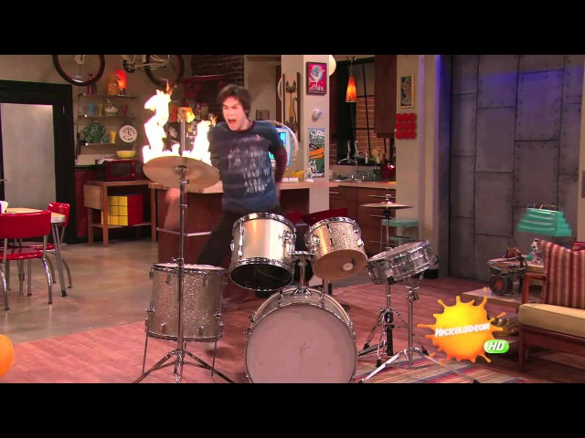 ICarly - Spencer on Drums [HD]
