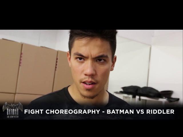 Batman vs. Riddler Fight Choreography - Batman The Enemy Within