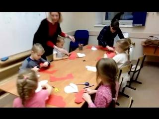 творческий английский: делаем валентинки с малышами!
