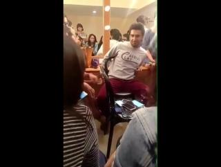 Ranveer Singh with fans in Yash Raj Films studios.