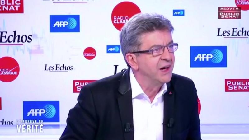 Mélenchon atomise F. Hollande et un journaliste au sujet de la crise à Alep en Syrie