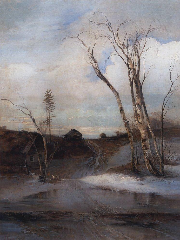Начало весны в картинах Алексея Кондратьевича Саврасова