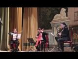 Илья Литвинов(Гитара), Валерий Михайлов (Виолончель-контрабас) и Владимир Семибратов (Скрипка) в концерте Николая Рябухи
