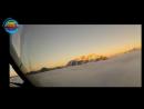 Uçağın pilot kabininden Yeni Zelanda'nın Queenstown kentine inişi