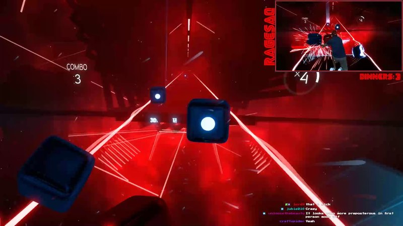 Beat Saber - Believer - Expert - Darth Maul style with special request first person mixed reality
