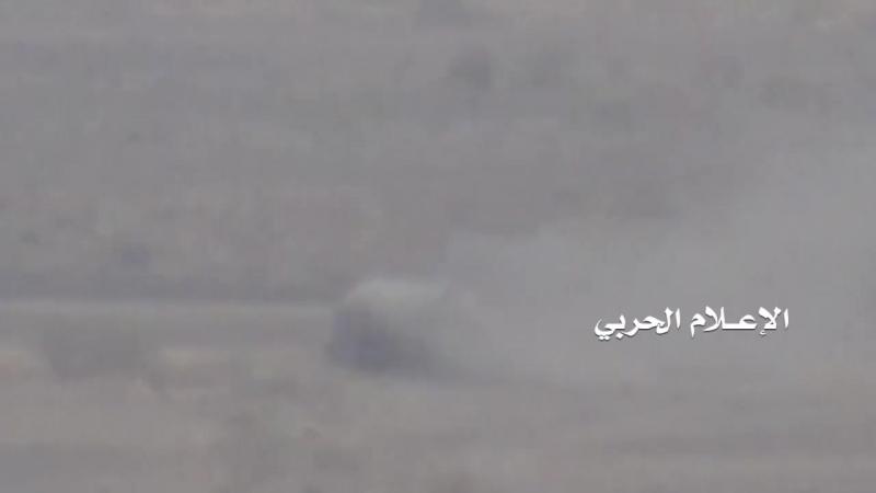 Хуситы подбили MRAP Caiman южан в районе Мавза. Таиз.