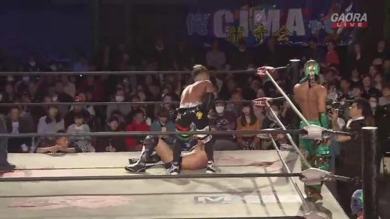 Kzy, Dragon Kid vs. Kotoka, Oji Shiiba (Dragon Gate - Champion Gate 2018 in Osaka - Day 2)