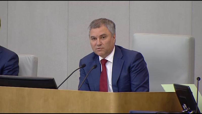 Вячеслав Володин предложил представителям Госдумы в ФОМС отчитываться о работе