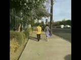 Fan taken video of Justin and Selena Gomez at the Lake Balboa, California