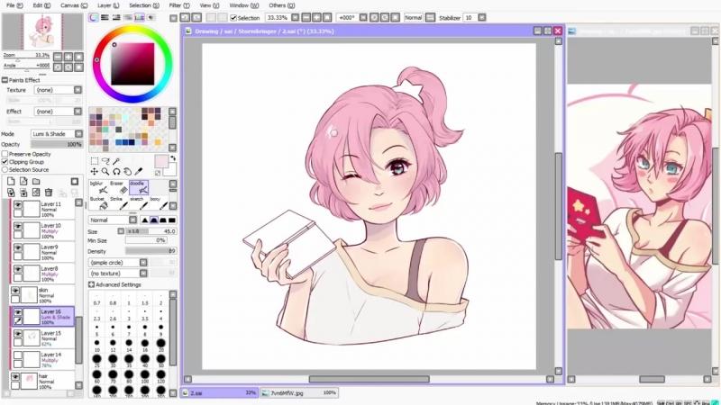 【Speedpaint】- Kirby Otaku (как рисовать аниме в саи)