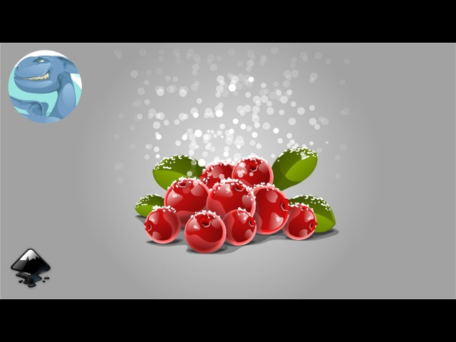 How to draw cowberries in Inkscape