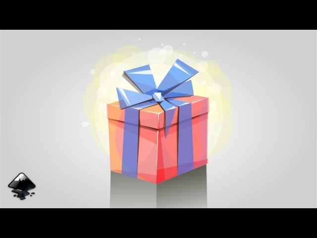 How to draw a gift in Inkscape