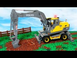 The Excavator at work | New Video for kids - World of Cars for children