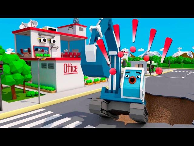 Auta po polsku - Koparka i Duże Ciężarówki - Bajka dla dzieci | Trucks Video for Kids