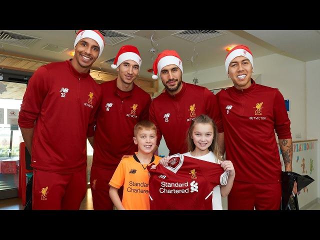 Liverpool squad make Christmas visit to Alder Hey Children's Hospital