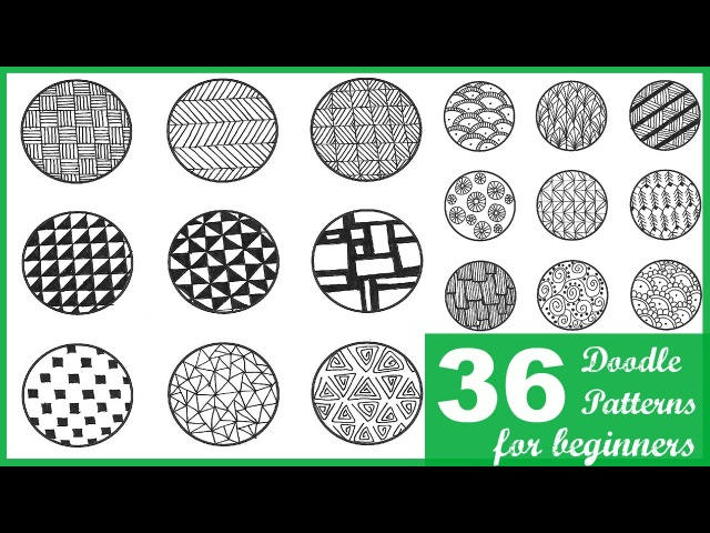 36 EASY DOODLE PATTERNS FOR BEGINNERS