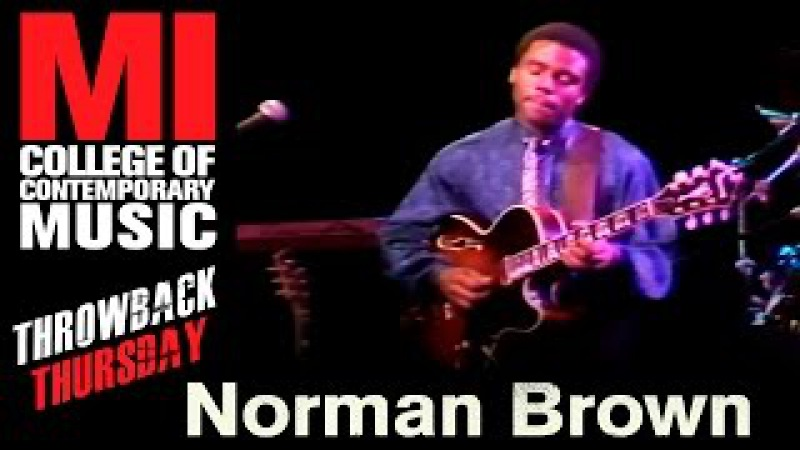 Norman Brown Throwback Thursday From the MI Vault 2/17/1988