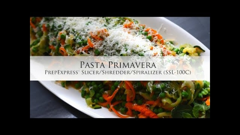 Pasta Primavera using the PrepExpress Spiralizer SSL-100C