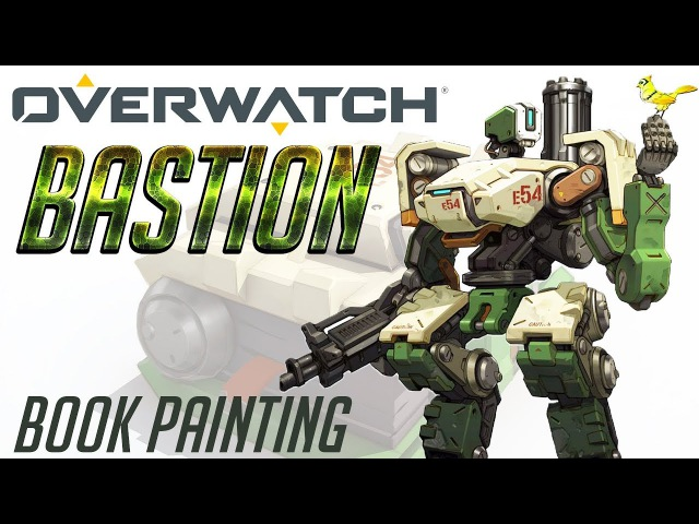 OVERWATCH: BASTION. Book painting.