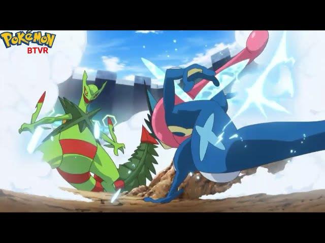 Semi-Finais da Liga Kalos - Mega Sceptile vs Ash-Greninja [Ash vs Sawyer] | Pokémon XYeZ