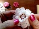 Салфетка крючком Розы в лучах Видеоурок №1 Ирландский цветок