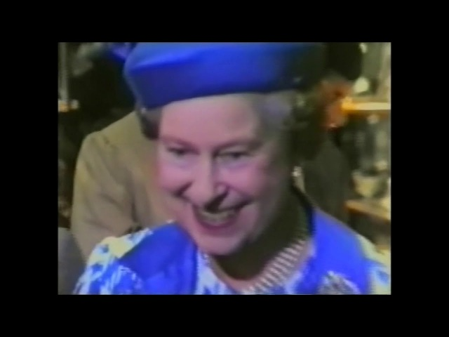 HM Queen Elizabeth II visits Jenners Department Store Edinburgh 28th June 1988