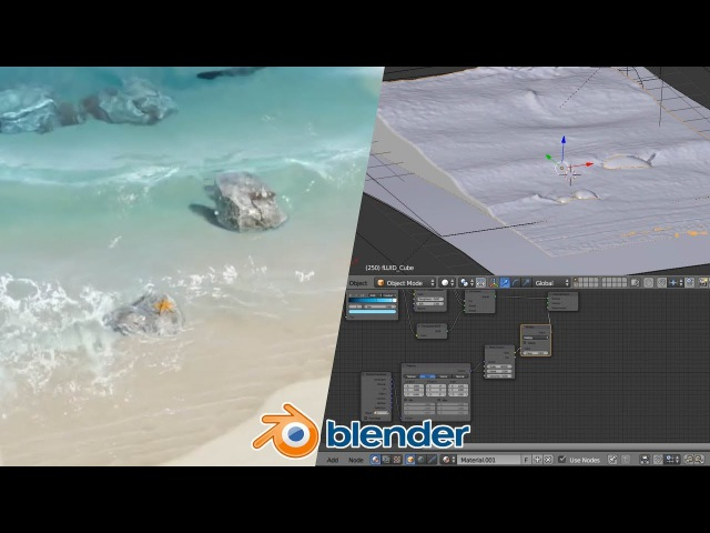 Beach Waves - Blender Fluid Tutorial : 2 of 2
